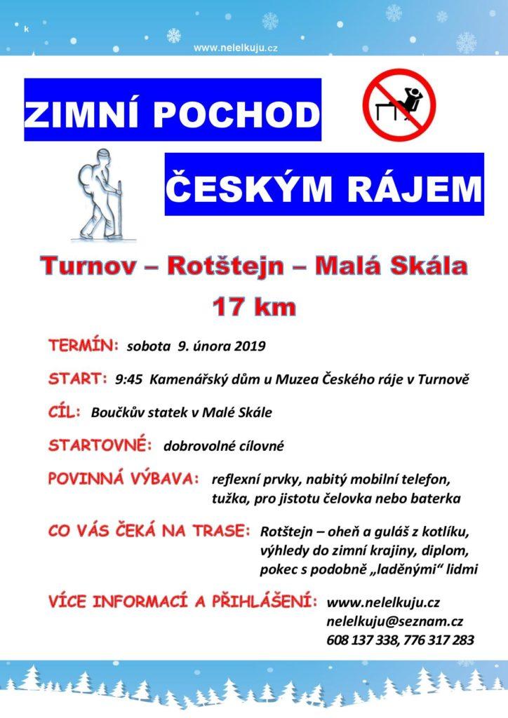 Zimní pochod Českým rájem 2019
